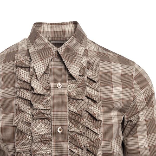 Beige checked shirt with curl                                                                                                                          DRIES VAN NOTEN