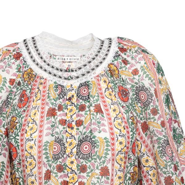 Patterned crop blouse                                                                                                                                  ALICE+OLIVIA