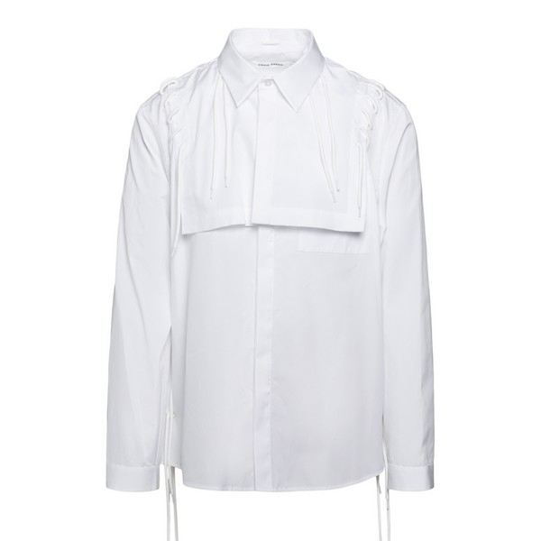 White shirt with laced detail                                                                                                                         Craig green CGAW20MWOSHI18 front