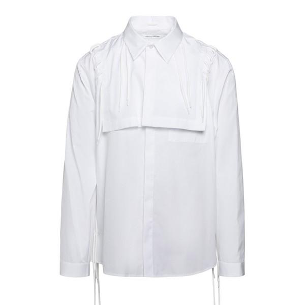 Camicia bianca con motivo stringato                                                                                                                   Craig green CGAW20MWOSHI18 fronte