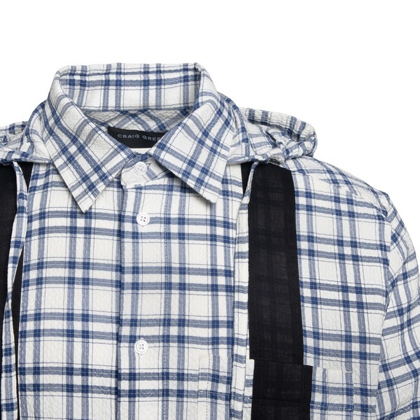 Hoodie shirt with contrasting details                                                                                                                  CRAIG GREEN