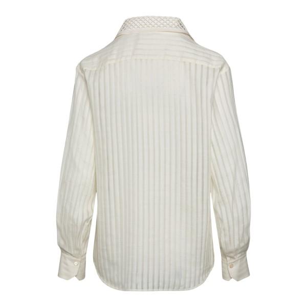 Camicia bianca con colletto traforato                                                                                                                  CHLOE'                                             CHLOE'