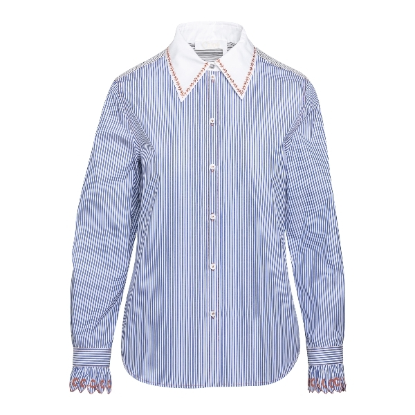 Blue striped shirt                                                                                                                                    Chloe' CHC21SHT73 front