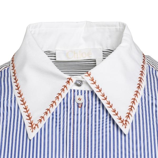Blue striped shirt                                                                                                                                     CHLOE'