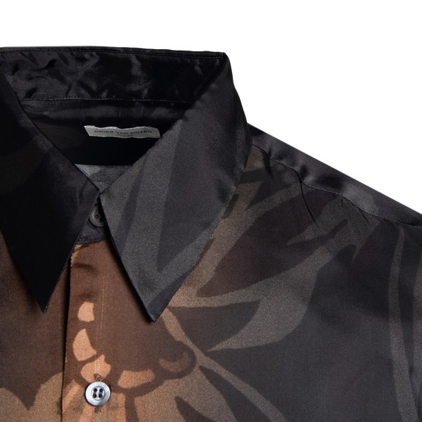 Flower printed shirt with sheaded effect                                                                                                               DRIES VAN NOTEN
