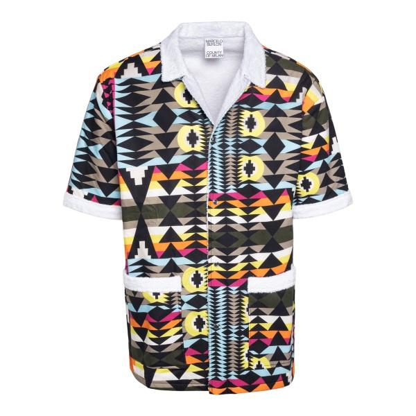Camicia multicolore a fantasia geometrica                                                                                                             Marcelo Burlon CMGA076S21FAB001 retro