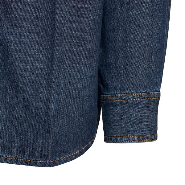 Denim shirt with wings print                                                                                                                           MARCELO BURLON