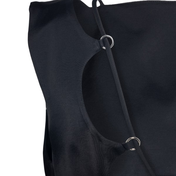 Black top with hollow back                                                                                                                             DRIES VAN NOTEN