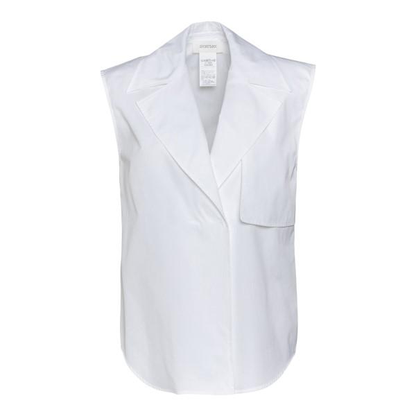 White sleeveless shirt                                                                                                                                Sportmax DERBY back