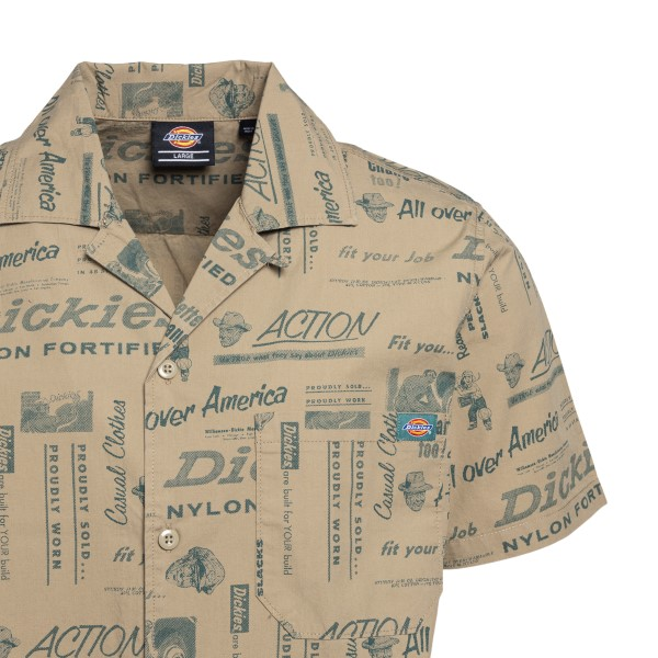 Sand-colored shirt with written print                                                                                                                  DICKIES