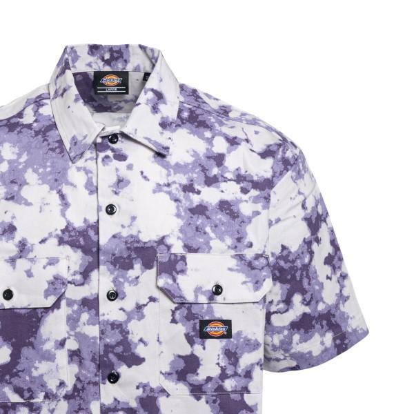 Camicia viola con effetto macchie                                                                                                                      DICKIES                                            DICKIES