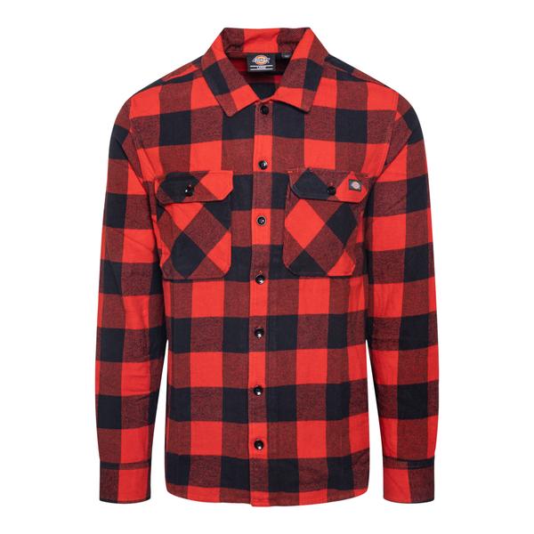 Camicia a quadri rossa e nera                                                                                                                          DICKIES                                            DICKIES