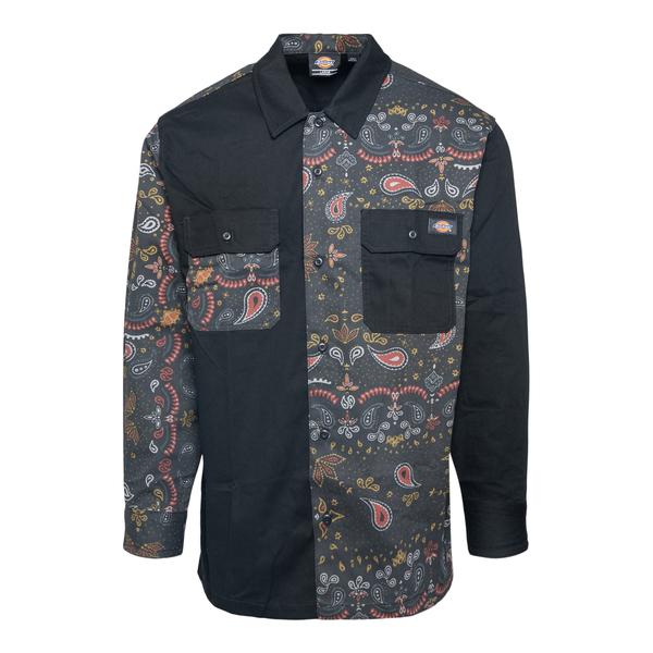 Black shirt with paisley pattern                                                                                                                      Dickies DK0A4XGV back