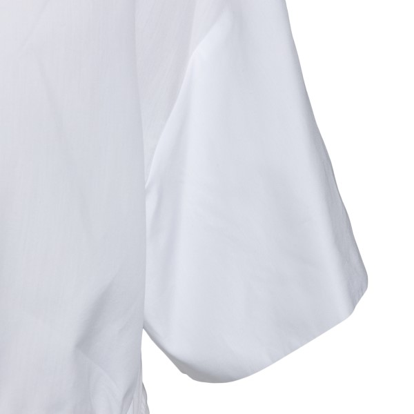White shirt with ribbon at the waist                                                                                                                   SPORTMAX