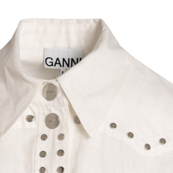 White shirt with attached studs                                                                                                                        GANNI