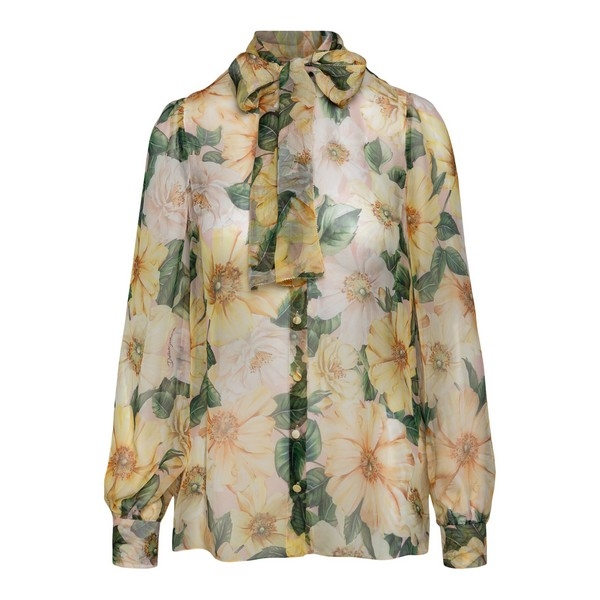 Semi-transparent blouse with floral print                                                                                                             Dolce&gabbana F5L66T front
