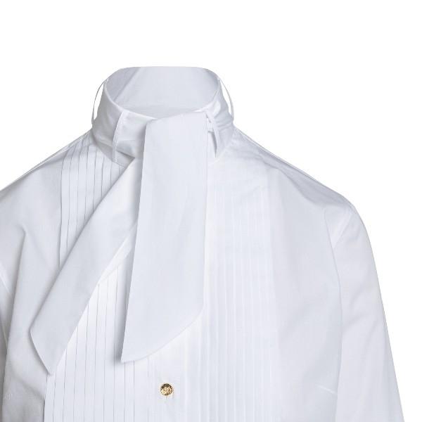 Camicia bianca con fiocco cravatta                                                                                                                     DOLCE&GABBANA                                      DOLCE&GABBANA