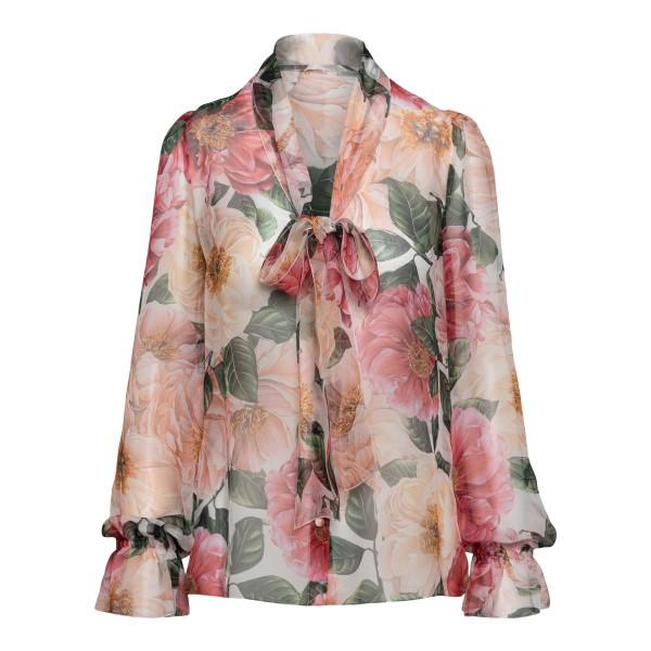 Blusa rosa con stampa floreale                                                                                                                        Dolce&gabbana F5N69T fronte