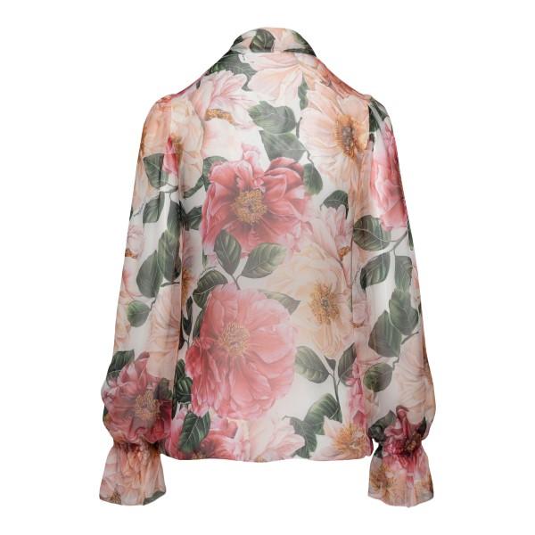 Blusa rosa con stampa floreale                                                                                                                         DOLCE&GABBANA                                      DOLCE&GABBANA