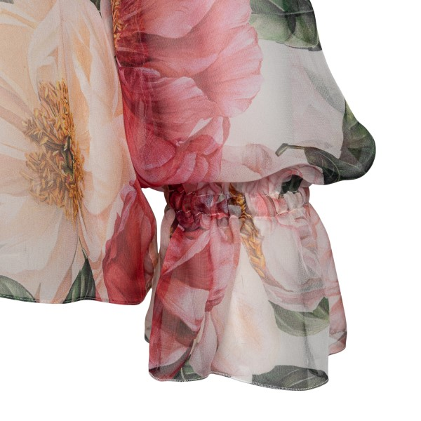 Pink blouse with floral print                                                                                                                          DOLCE&GABBANA