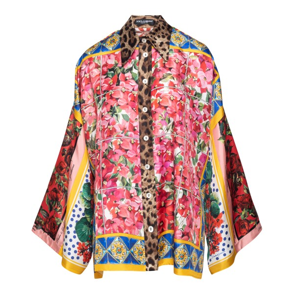 Patchwork-style multicolored shirt                                                                                                                    Dolce&gabbana F5O28T back