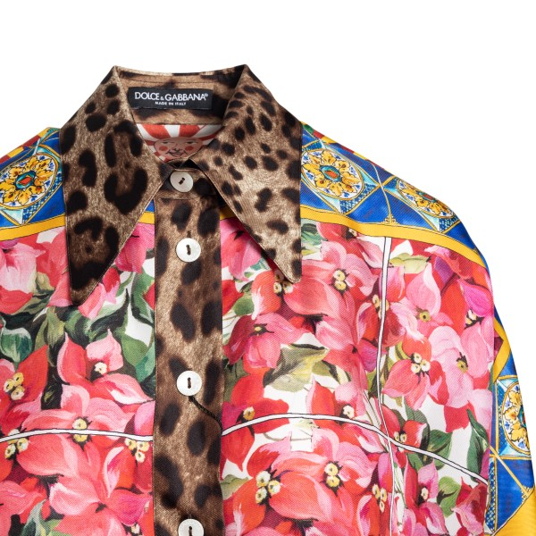Patchwork-style multicolored shirt                                                                                                                     DOLCE&GABBANA