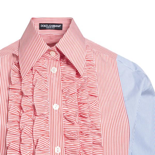 Two-tone shirt with ruffles                                                                                                                            DOLCE&GABBANA