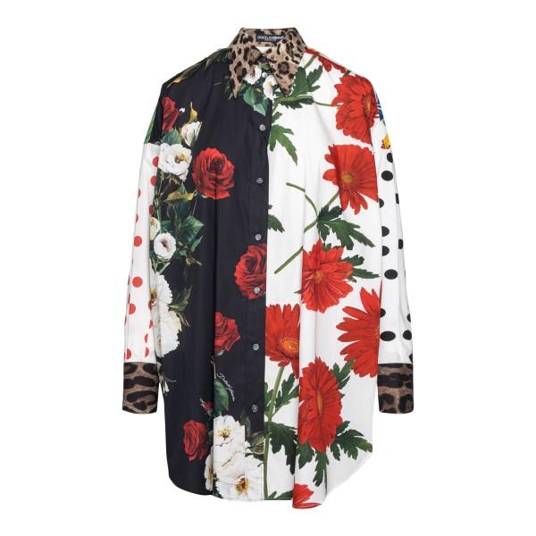 Camicia lunga multicolore a fantasia                                                                                                                  Dolce&gabbana F5O37T retro