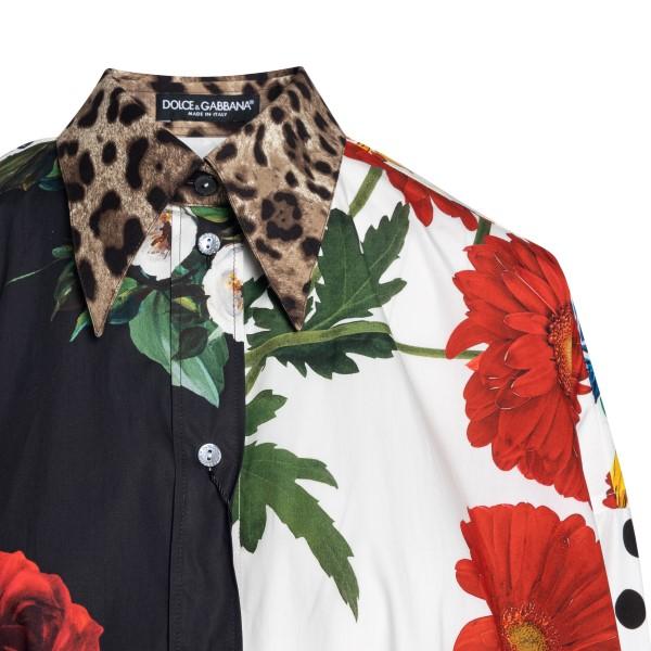 Long multicolored patterned shirt                                                                                                                      DOLCE&GABBANA