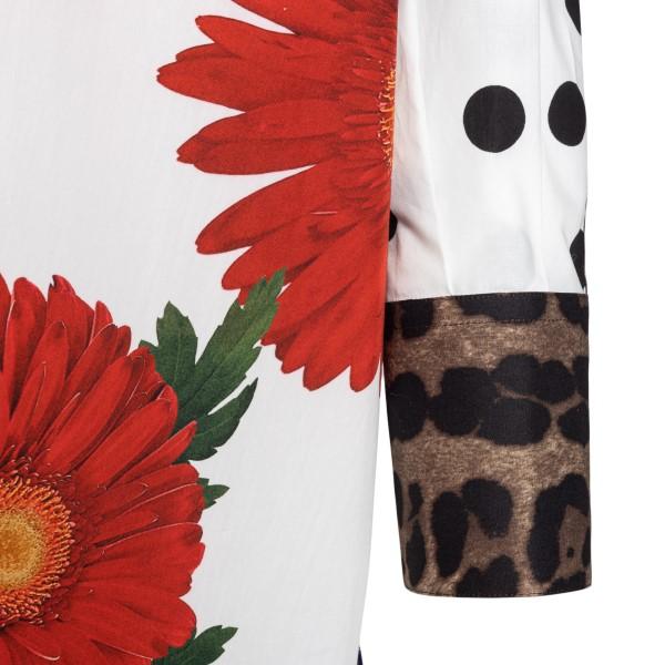 Camicia lunga multicolore a fantasia                                                                                                                   DOLCE&GABBANA                                      DOLCE&GABBANA