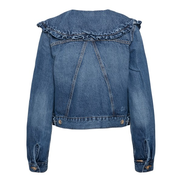 Denim jacket with wide collar                                                                                                                          GANNI