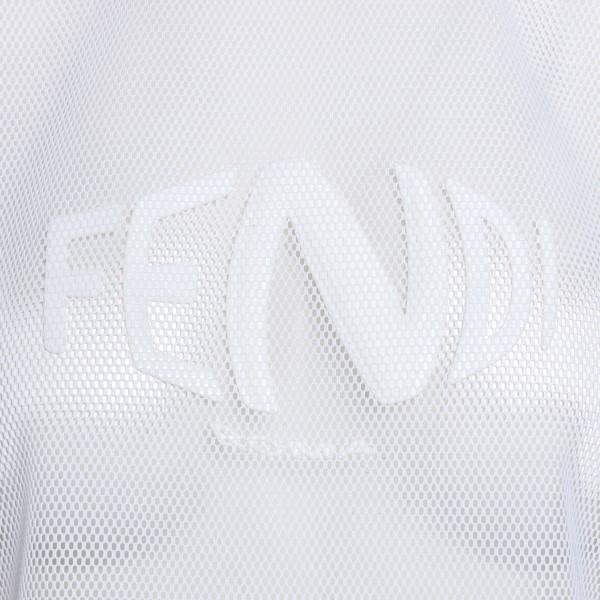 Semi-transparent white crop T-shirt                                                                                                                    FENDI