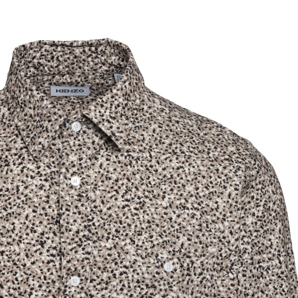 Beige shirt with marbled print                                                                                                                         KENZO