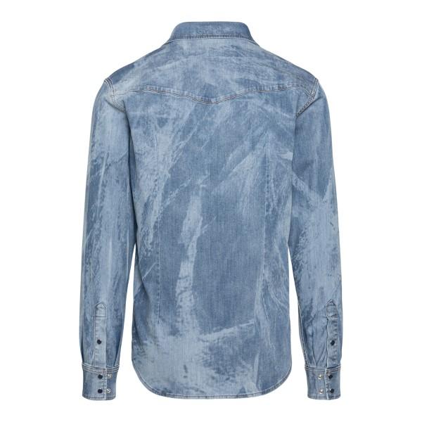 Light blue denim shirt with faded effect                                                                                                               DOLCE&GABBANA