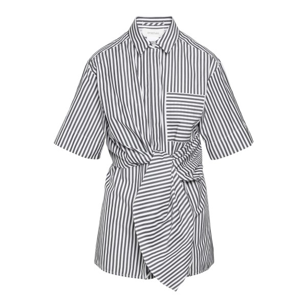 Striped shirt with knot                                                                                                                               Sportmax GIRO back