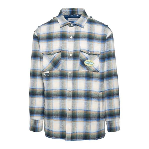 Giacca-camicia a scacchi                                                                                                                              Golden goose GMP00308 fronte