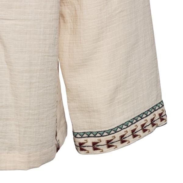 Camicia beige con ricami geometrici                                                                                                                    ISABEL MARANT                                      ISABEL MARANT
