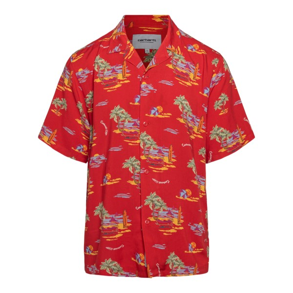 Camicia rossa con stampa grafica                                                                                                                      Carhartt I028795 retro
