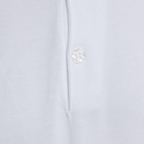 Polo classica in maglia bianca                                                                                                                         JOHN SMEDLEY                                       JOHN SMEDLEY