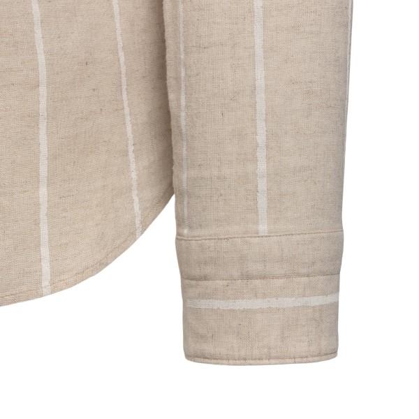 Beige shirt with mandarin collar                                                                                                                       TINTORIA MATTEI