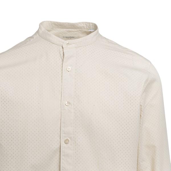 Camicia avorio con colletto alla coreana                                                                                                               TINTORIA MATTEI                                    TINTORIA MATTEI
