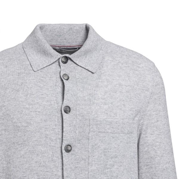 Grey knit shirt                                                                                                                                        BRUNELLO CUCINELLI