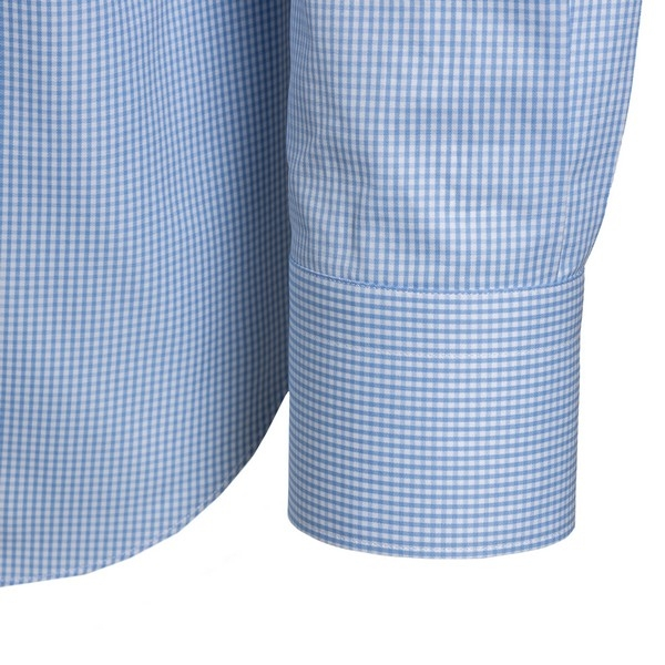 Light blue and white classic ckecked shirt                                                                                                             FINAMORE