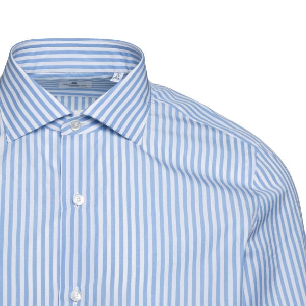 White and blue striped shirt                                                                                                                           FINAMORE