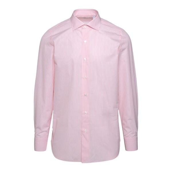Camicia rosa classica a righe                                                                                                                          FINAMORE                                           FINAMORE