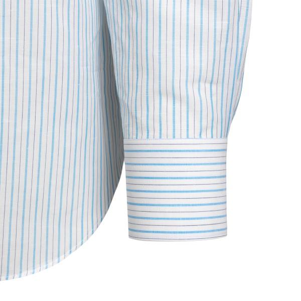 Camicia classica a righe blu                                                                                                                           FINAMORE                                           FINAMORE