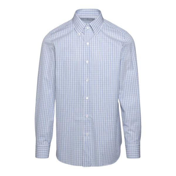 Camicia classica bianca a quadri                                                                                                                       FINAMORE                                           FINAMORE