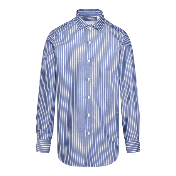 Blue and white striped shirt                                                                                                                          Finamore MILANO back
