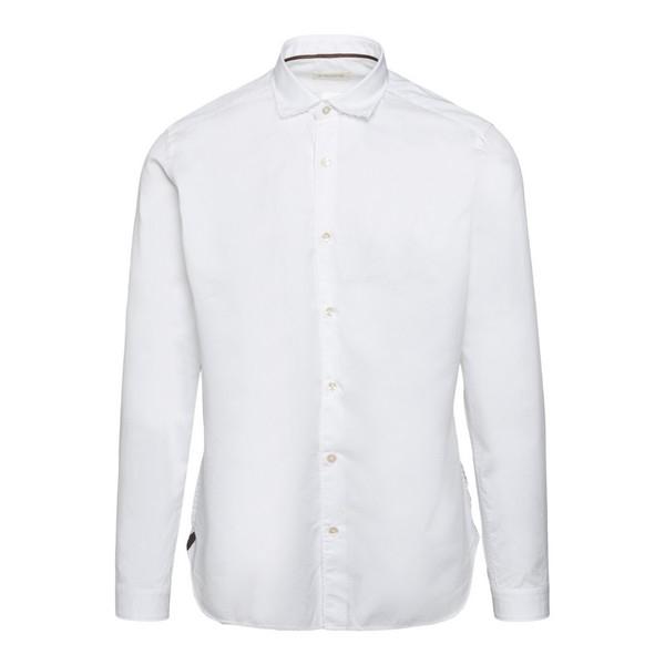 Camicia bianca con effetto vissuto                                                                                                                    Tintoria mattei N6U fronte
