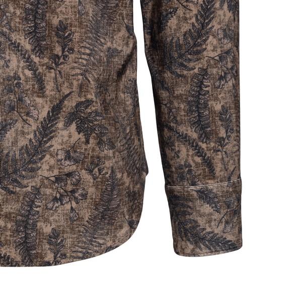 Brown patterned shirt                                                                                                                                  TINTORIA MATTEI